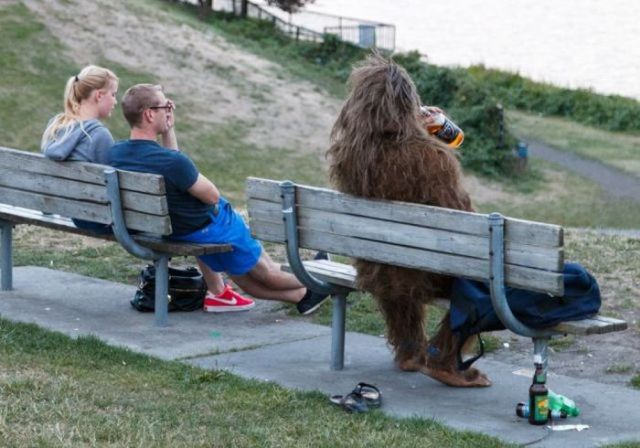 No wonder Sasquatch is always so angry in those commercials: he's a drunkard!