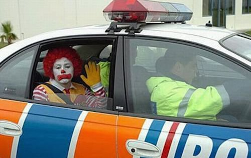 Ronald refused to honor the restraining order obtained by Burger King.